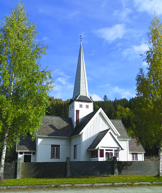 Photo: Bjoertvedt / Wikimedia Commons Sel Kirke.