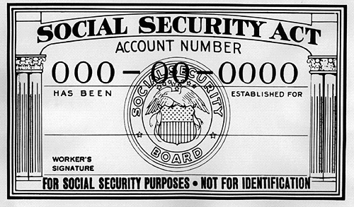 Photo: Social Security Administration Early (late 1940s) Social Security card.