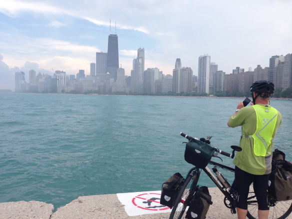 Photo: Per Walmsness The cyclists stopped frequently to document their trip.