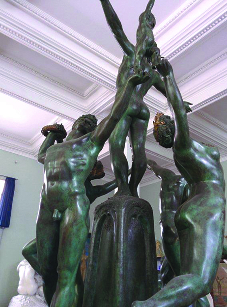 """Photo: James Stuart Osbourn  The profusion of sculpted nudes is the museum's most striking feature. Internet research indicates that this central  scuplture might be called """"The Day for the Fountain of Life."""""""