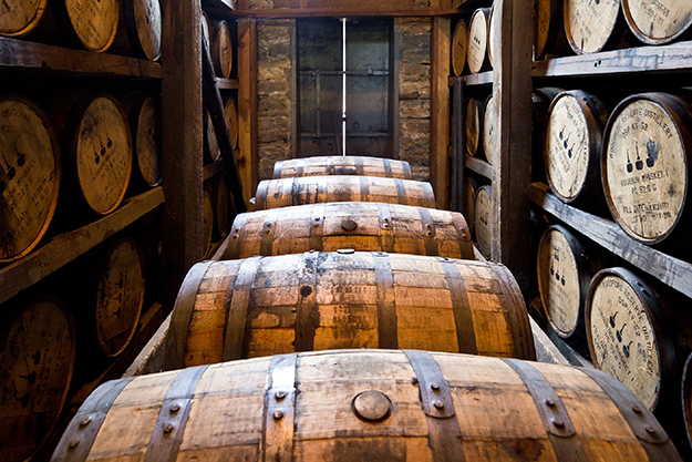 Photo: Pixabay  Barrels haven't changed much since Colonial times, and though these age whiskey they could as easily contain rum, or even a dead Naval officer.