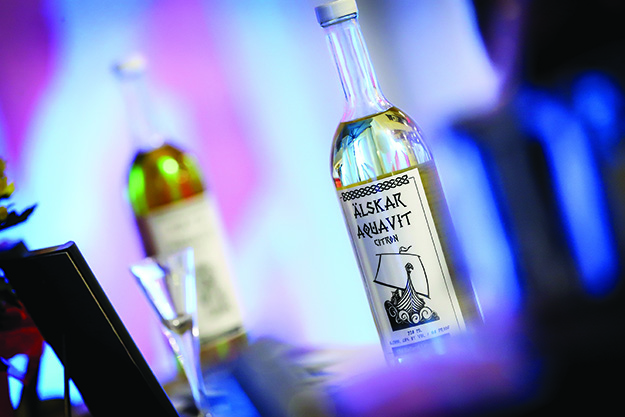 Photo: Gemar Photography Old Ballard's akevitt was the star of the refined Aquavit Bar.