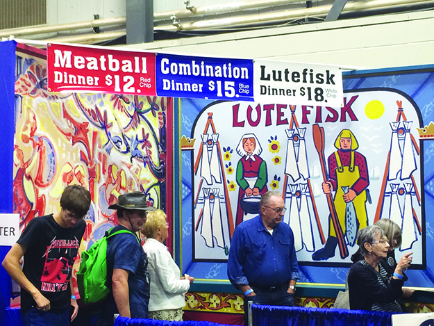 Photos: Darin Lietz isitors line up for a taste of traditional Norwegian foods.