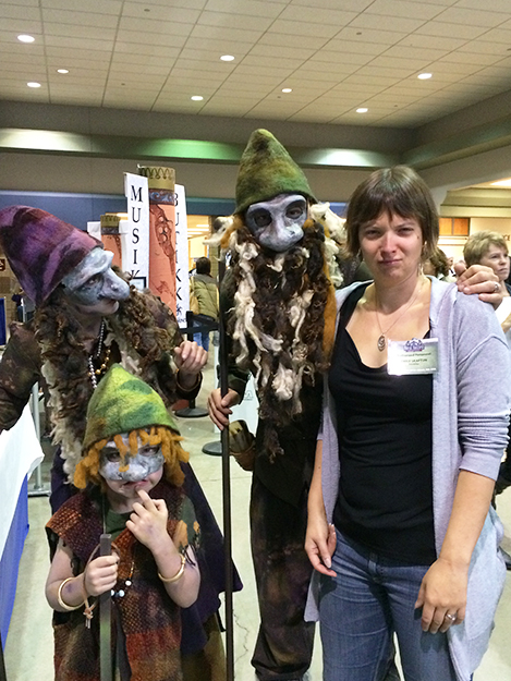 Photo: Amy Lietz Four trolls. The three on the left told NAW editor Emily C. Skaftun that trolls don't smile for photos, and she happily changed to a more appropriate expression.