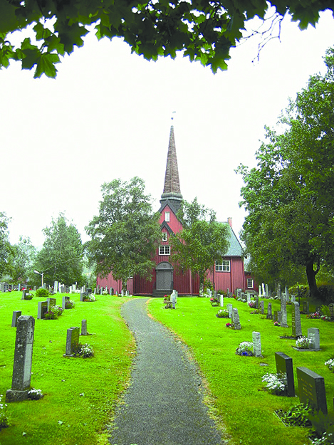 Photo: Gams / Wikimedia Commons Rennebu Kirke, one of only four Y-shaped churches remaining in Norway.