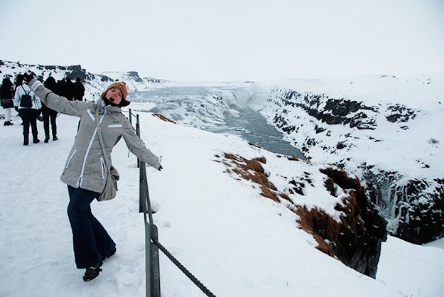 Photo: Amy Lietz We spent about five minutes at Gullfoss in Iceland. Does it count?
