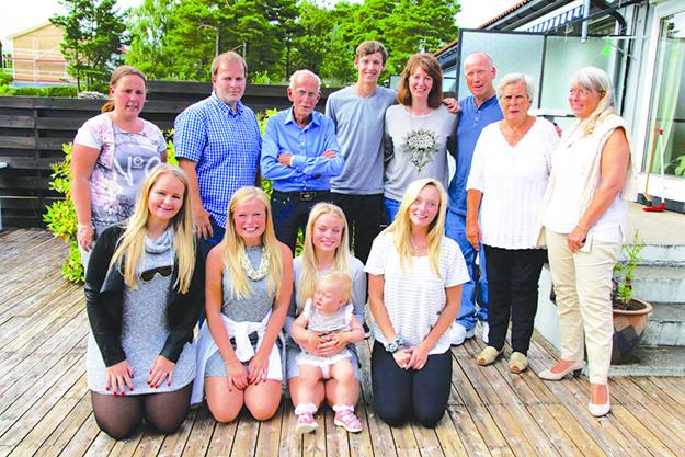 Photo courtesy of Lauren Benson Family together in Kristiansand.