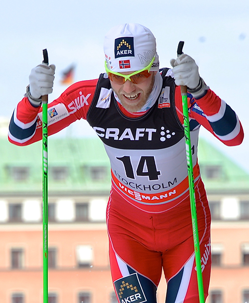 Photo: Frankie Fouganthin  Martin Johnsrud Sundby at the FIS World Cup in 2013.