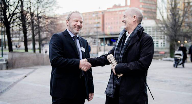 Photo: Thomas Haugersveen / IKM Cleandrill  IKM Cleandrill's CEO Tom Hasler, left, and founder Ståle Kyllingstad.