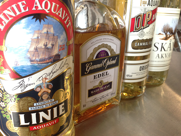 Photo: Lexi Scandinavian aquavits are produced in a great range of flavors, colors, and styles.