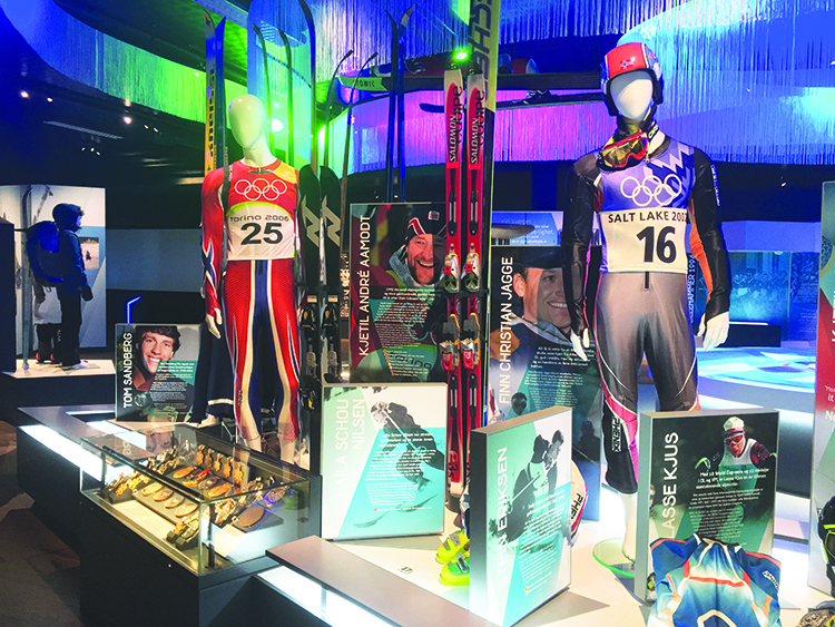 Photo: David Nikel A display in the new Olympic Museum, which had moved just days before Nikel's chance visit to Lillehammer. It's a good thing he made the trip, or he might have included information that was already out of date before the book was even complete!
