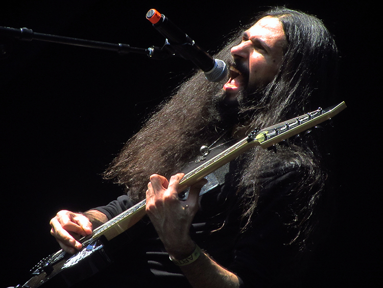 Photo: David Burke Iranian black metal rocker Sina Winter at Midgardsblot 2015 extreme metal festival in Borre, Norway.