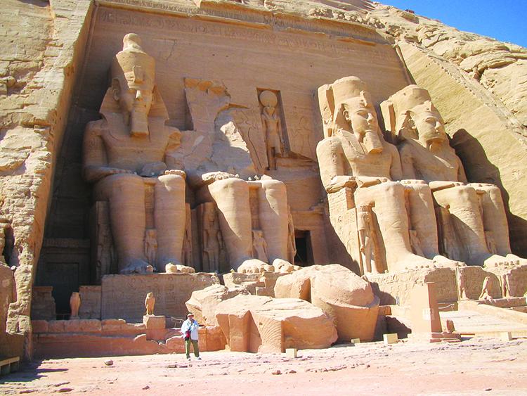 Photo: Arlene & Thor A. Larsen The entrance to the spectacular Temple of Abu Simbel.
