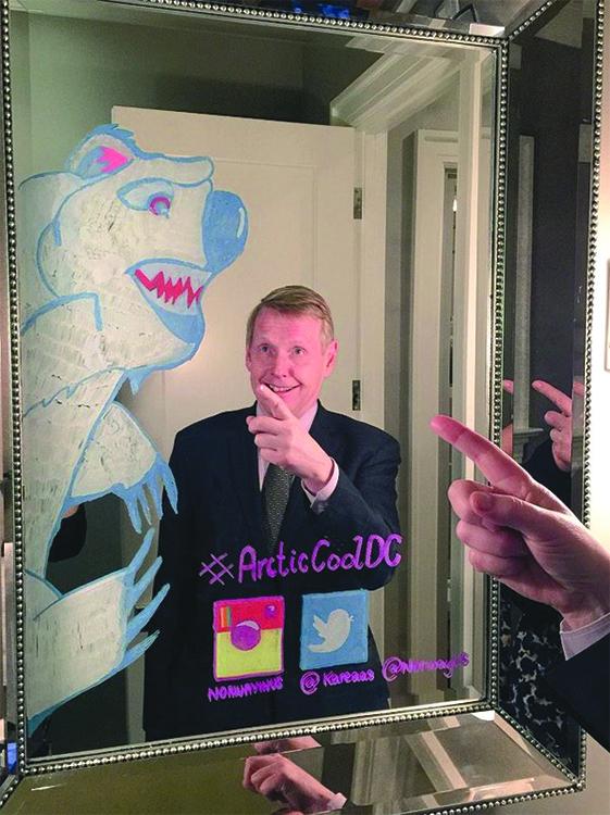 Photo: Kåre Aas Ambassador Aas's encounter with a polar bear was relatively safe.