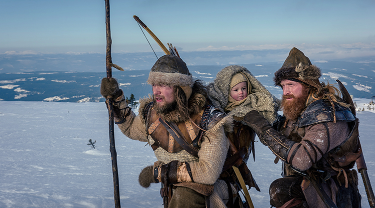 Photo courtesy of Norwegian Film Institute Skjervald (Jakob Oftebro) and Torstein (Kristofer Hivju) are tasked with protecting the infant King Haakon of Norway in Nils Gaup's The Last King.