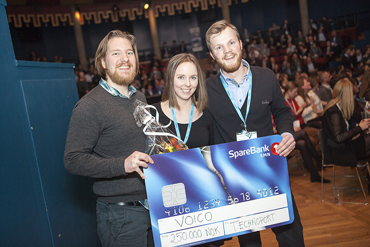Photo: Technoport / Wil Lee-Wright PhotographyVoico's noise-cancelling technology won the pitch contest at the conference.