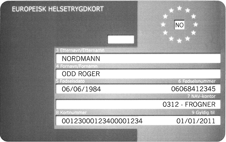 Photo: NAV Norwegian version of a European Health Insurance Card.