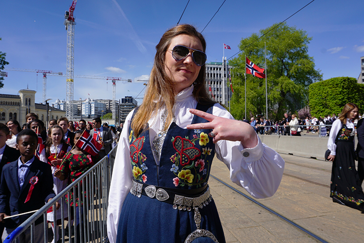 Photo: Nicole Sewell, courtesy of Line Bredrup Petersen Everyone gets into the festivities on Syttende Mai.