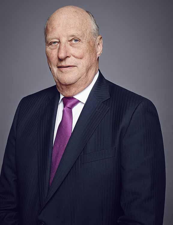 Photo: Jørgen Gomnæs / The Royal Court  His Majesty King Harald V of Norway.