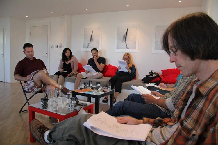 Photo: U.S.-Norway Film Development Project / Facebook At the 2012 Script Polishing Summit. David Leader, Silje Randen, Josetin Hermansen, Helene Steinhaug, Brandi Savitt, Mark Fergus, and Hawk Ostby.