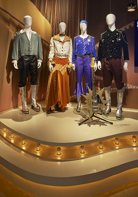 Photo: Åke E:son Lindman / ABBA The Museum The costumes ABBA wore when they won Eurovision in 1974, propelling them to stardom, are on display in the ABBA museum.