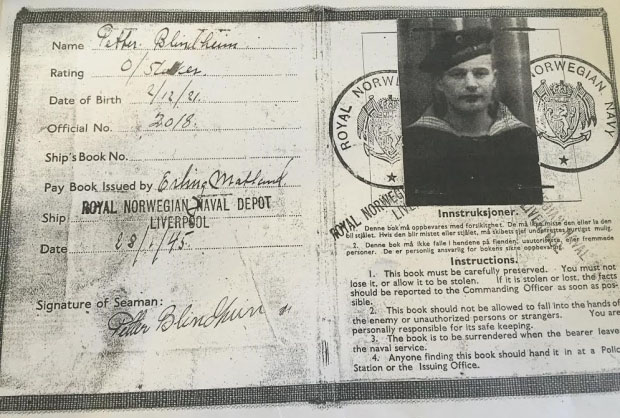 Photo courtesy of Peter Blendheim / CBCNews Blindheim's family has stacks of documents showing his service with the Royal Norwegian Navy. Veterans Affairs Canada stated in initial rejection letters that Blindheim was in the Merchant Navy instead.