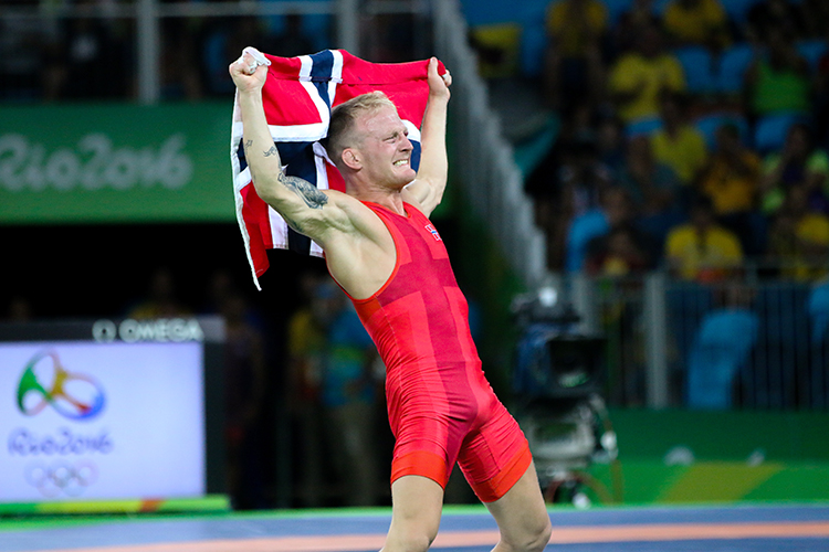 Photo: Karl Filip Singdahlsen / NIF / courtesy of Norges Idrettsforbund Berge was obviously thrilled with his bronze medal win.