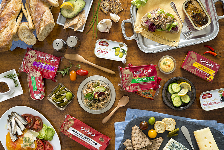 Photo courtesy of King Oscar King Oscar's various tinned products are sustainably fished in the fjords of Norway and adjacent North Sea.