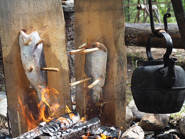 Photo: Nevada Berg Use a plank to fire-cook fish just like your Viking ancestors did.