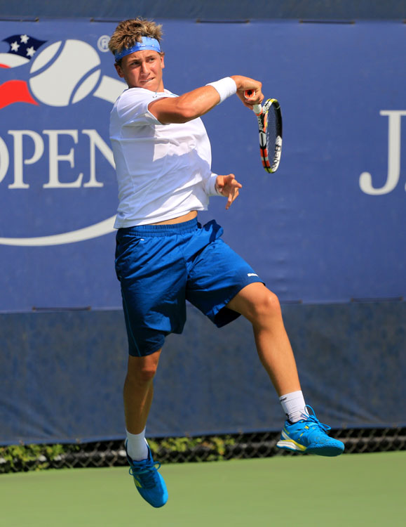 Casper Ruud at the 2015 US Junior Open. Photo by robbiesaurus / Wikimedia