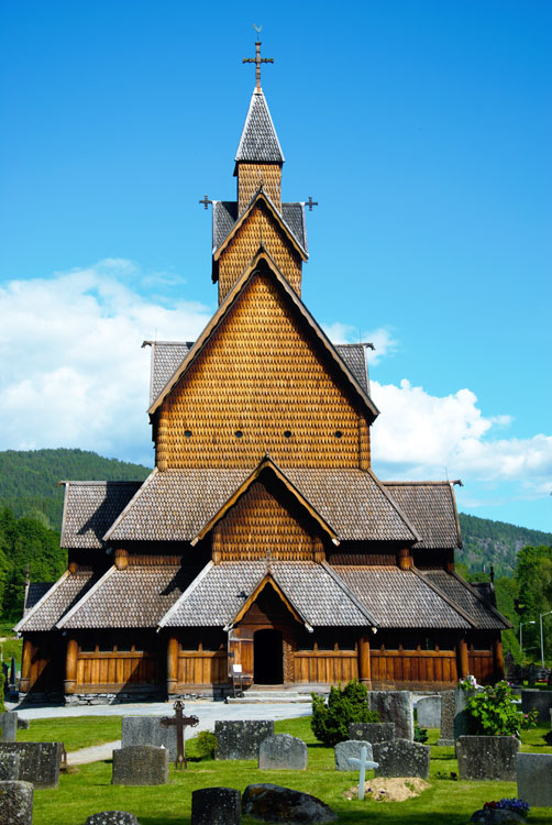 Prior to the construction of Treet (above) in 2015, the stave church at Heddal (left) was for centuries Norway's tallest wooden building. It was built in the early 13th century. Photo by Norwegian Directorate for Cultural Heritage