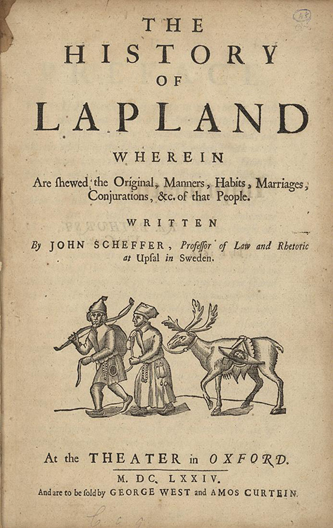Photo: Public domain Title page of The History of Lapland by Johan Scheffer, originally published in 1674.