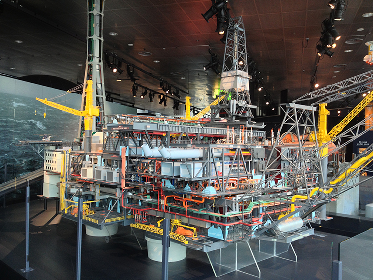 Photo: David Nikel Large scale models of oil rigs are on display at the Petroleum Museum.