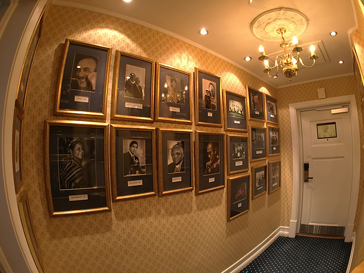 Photo: Emily C. Skaftun A fish-eye view of one side of the entryway to the impressive Nobel suite in the Grand Hotel, where Peace Prize winners often stay.