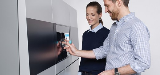 One of the Tomra's reverse vending machines used for recycling bottles.