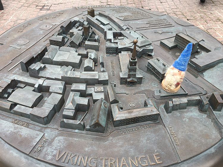 A raised city map of the Viking Triangle in Waterford