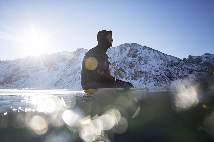 Arctic surfer Kian Bourke