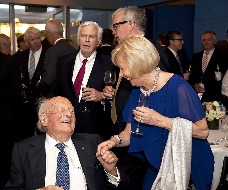 Tallaksen shares a laugh with Oivind Lorentzen, Jr., Director Emeritus of NACC and son of Øivind Lorentzen the shipping magnate.