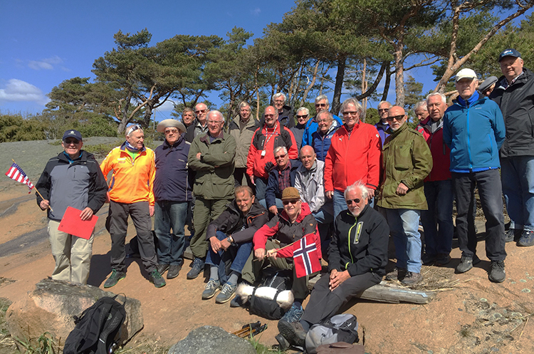 The Seigkællane group of men ages 62 to 95.