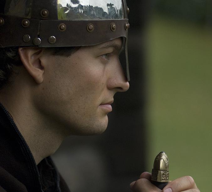 A Viking warrior.