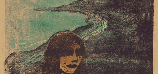 Girl's Head Against the Shore by Edvard Munch.