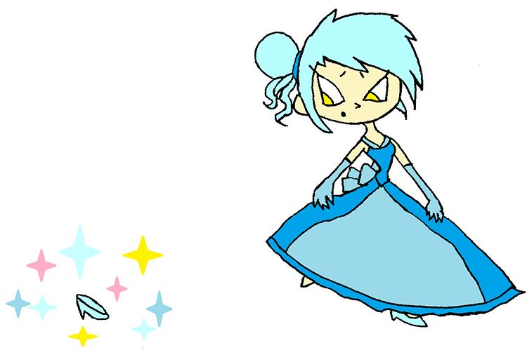 An illustration of Cinderella.