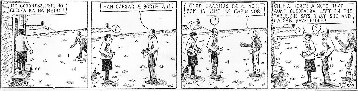 Han Ola og Han Per comic strip.