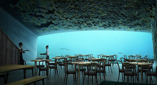 Lindesnes underwater restaurant