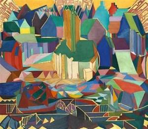 Pentecost: Hvitasunnudagr, painting by Jóhannes Sveinsson Kjarval