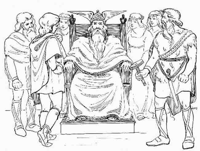 Barneblad: Norse gods, days of the week, and Viking fun