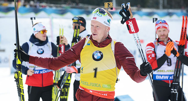 Johannes Thingnes Bo Scores Ninth Win The Norwegian American