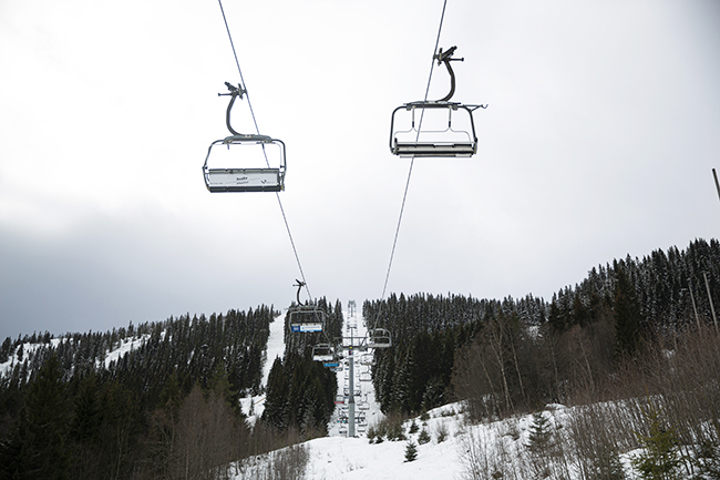 Ski lifts in Voss