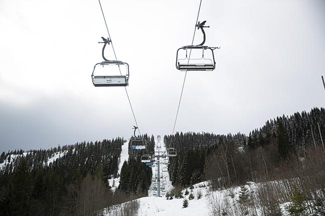 Ski lifts in Voss