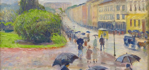 Edvard Munch - Karl Johan in the Rain